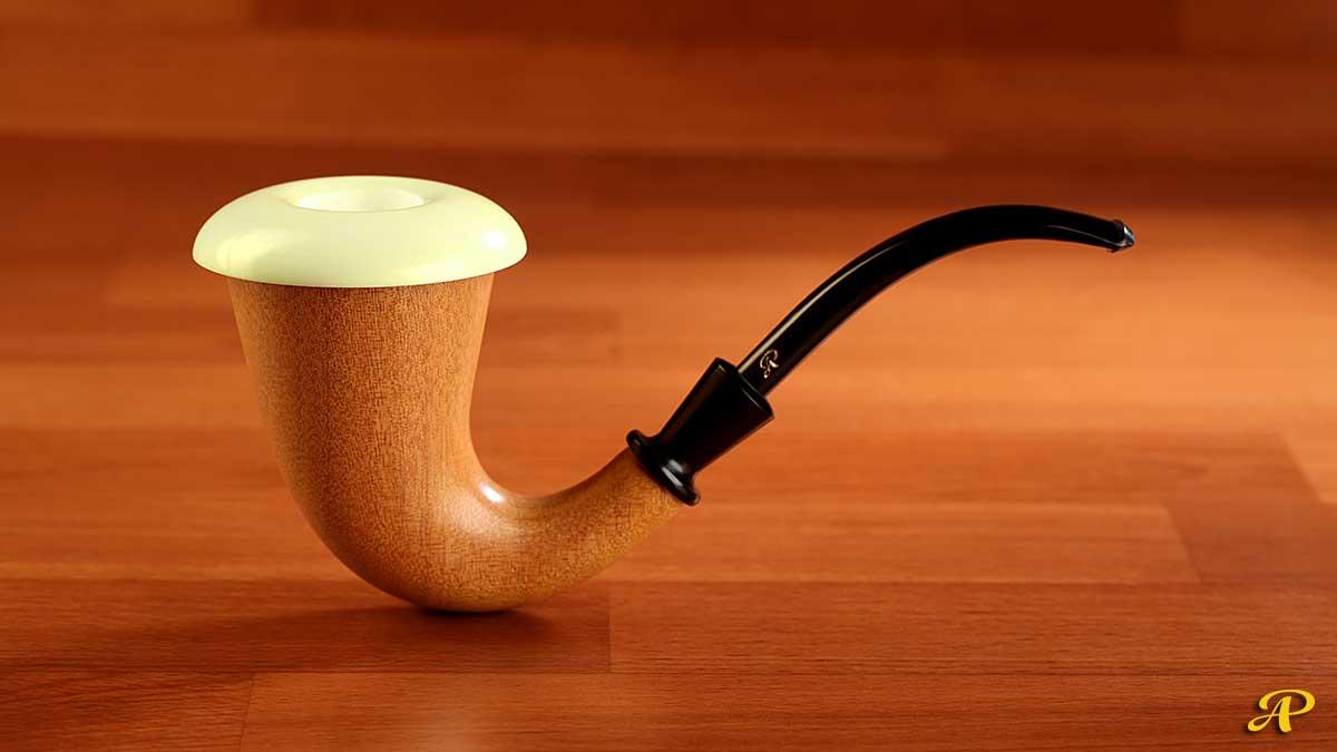 Mahogany Calabash with Block Meerschaum Bowl