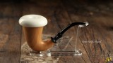 Mahogany Calabash with Block Meerschaum Bowl