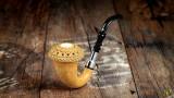 African Gourd Calabash with Block Meerschaum Bowl
