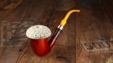 African Calabash with Block Meerschaum Bowl